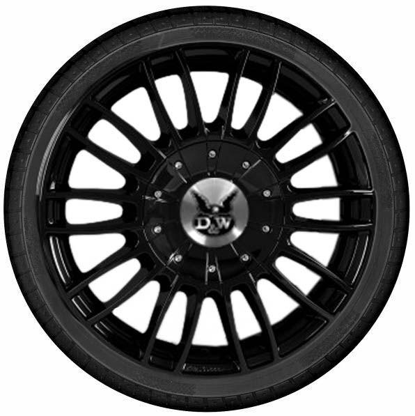 """DuW Wohnmobil-Komplettrad CW3 Felge 7,5x18"""" black glossy und 255/55 R 18 Continental All Season"""