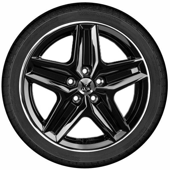 "DuW Wohnmobil-Komplettrad CWZ Felge 7,5x18"" black glossy 255/55 R 18 Continental All Season"