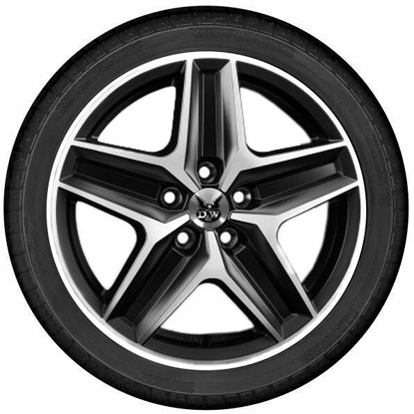 "DuW Wohnmobil-Komplettrad CWZ Felge 7,5x18"" black pol. matt Reifen 255/55 R 18 Continental AllSeason"