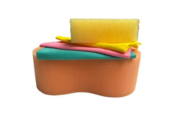 DuW 324944 Wasch-Set, Blau, Gelb, Orange