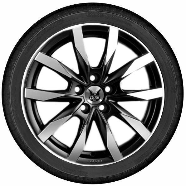 "DuW Wohnmobil-Komplettrad CW5 Felge 7,5x18"" black pol. matt/Reifen 255/55R18 Continental AllSeason"