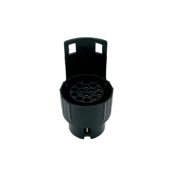 DuW Anhänger Mini-Adapter Steckdose 7-polig auf Stecker 13-polig – 12V CE