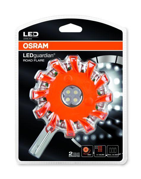 Osram LEDSL302 LEDguardian ROAD FLARE LED-Notfall-Warnlicht Taschenleuchte, Blister (1 Stück)