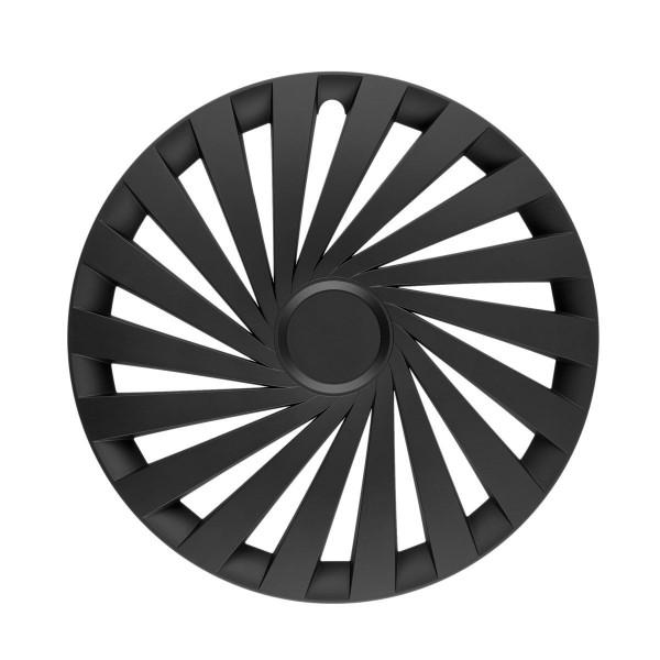 in.pro. Radzierblende Empire black 15 Zoll einfarbig (schwarz) - matt Set 4 Stück