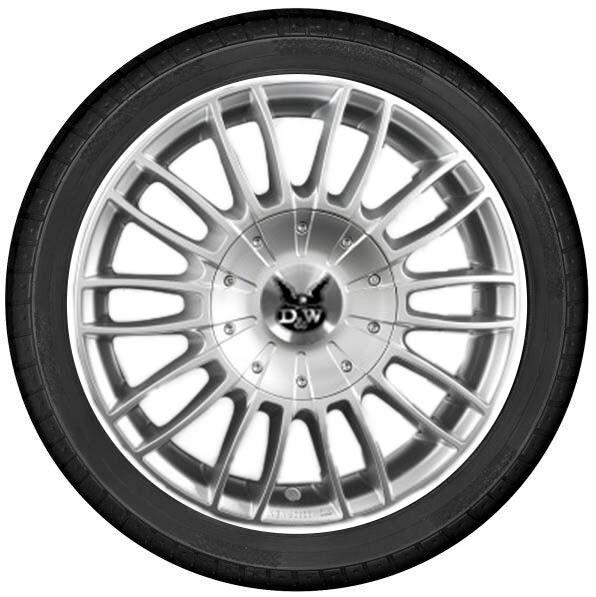 "DuW Wohnmobil-Komplettrad CW3 Felge 7,5x18"" sterling silver / 255/55 R 18 Continental All Season"